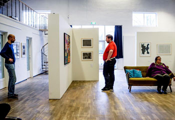 People viewing exhibition at Gaia museum